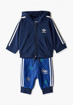 Костюм спортивный, adidas Originals, цвет: синий. Артикул: AD093EBJLVV8. Новорожденным / Одежда