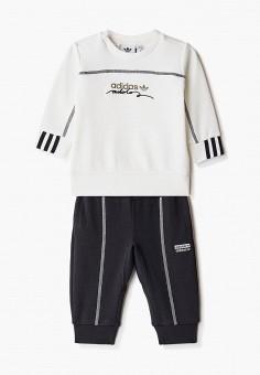 Костюм спортивный, adidas Originals, цвет: белый, черный. Артикул: AD093EBJLVW9. Новорожденным / Одежда