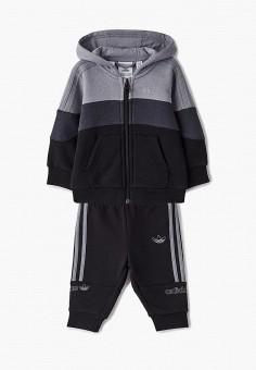 Костюм спортивный, adidas Originals, цвет: черный. Артикул: AD093EBJLVZ4.