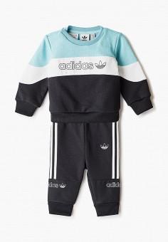 Костюм спортивный, adidas Originals, цвет: мультиколор, черный. Артикул: AD093EBJLVZ5.