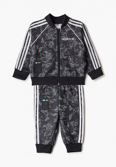 Костюм спортивный, adidas Originals, цвет: черный. Артикул: AD093EBJLWA1.