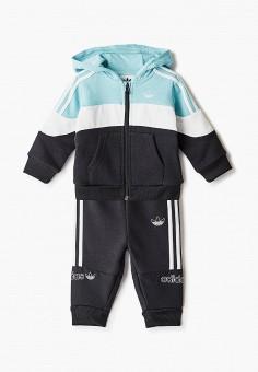Костюм спортивный, adidas Originals, цвет: черный, мультиколор. Артикул: AD093EBJLWA4.