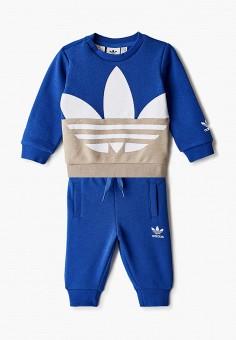Костюм спортивный, adidas Originals, цвет: синий. Артикул: AD093EBJLWB2. Новорожденным / Одежда