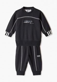 Костюм спортивный, adidas Originals, цвет: черный. Артикул: AD093EBJLWB6.