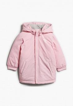 Пуховик, adidas Originals, цвет: розовый. Артикул: AD093EGCCZL1. Девочкам / Одежда / Верхняя одежда / Куртки и пуховики