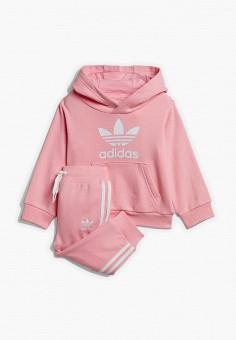 Костюм спортивный, adidas Originals, цвет: розовый. Артикул: AD093EGEDUO8. Новорожденным / Одежда