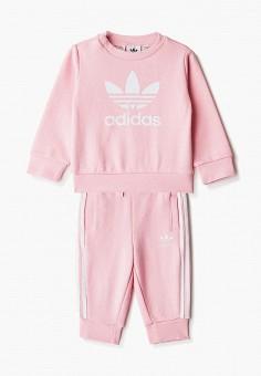 Костюм спортивный, adidas Originals, цвет: розовый. Артикул: AD093EGJLVY0. Новорожденным / Одежда