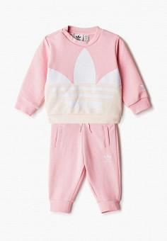 Костюм спортивный, adidas Originals, цвет: розовый. Артикул: AD093EGJLVY3. Новорожденным / Одежда