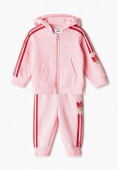 Костюм спортивный, adidas Originals, цвет: розовый. Артикул: AD093EGJLVY7.