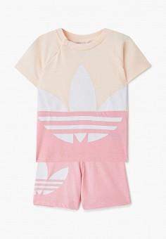 Костюм спортивный, adidas Originals, цвет: розовый. Артикул: AD093EGJLVZ1. Новорожденным / Одежда
