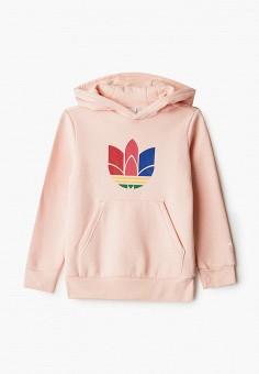 Худи, adidas Originals, цвет: розовый. Артикул: AD093EGJLVZ3.
