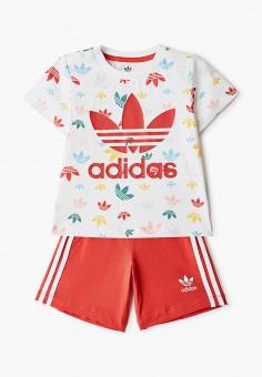 Костюм спортивный, adidas Originals, цвет: белый, красный. Артикул: AD093EKIALX3. Мальчикам / Одежда