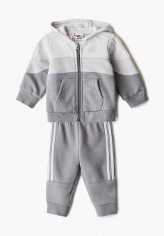 Костюм спортивный, adidas Originals, цвет: серый. Артикул: AD093EKJLVR8. Новорожденным / Одежда