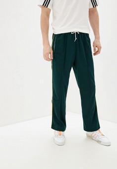 Брюки спортивные, adidas Originals, цвет: зеленый. Артикул: AD093EMHLDT8. Одежда / Брюки / Спортивные брюки