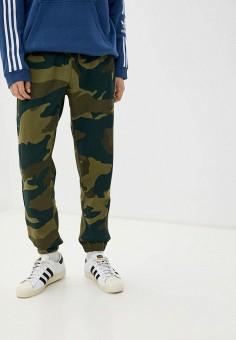 Брюки спортивные, adidas Originals, цвет: зеленый. Артикул: AD093EMHLEM7.