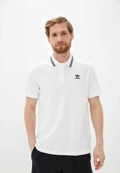 Поло, adidas Originals, цвет: белый. Артикул: AD093EMHLIO2.
