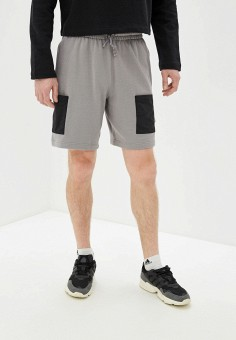 Шорты спортивные, adidas Originals, цвет: серый. Артикул: AD093EMHLIW3.