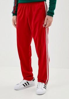 Брюки спортивные, adidas Originals, цвет: красный. Артикул: AD093EMJLYU4. Одежда / Брюки