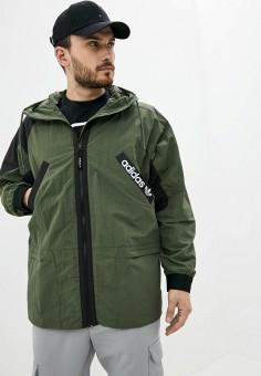 Ветровка, adidas Originals, цвет: хаки. Артикул: AD093EMJLYU7. Одежда / Верхняя одежда / Легкие куртки и ветровки