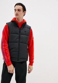 Жилет утепленный, adidas Originals, цвет: черный. Артикул: AD093EMJLYV9. Одежда / Верхняя одежда / Жилеты