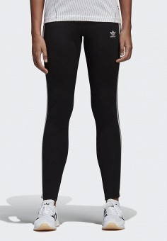 Леггинсы, adidas Originals, цвет: черный. Артикул: AD093EWALOX8. Одежда / Брюки / Леггинсы