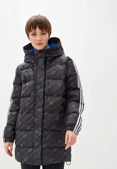 Пуховик, adidas Originals, цвет: черный. Артикул: AD093EWFKXH5. Одежда / Верхняя одежда / Пуховики и зимние куртки / Пуховики