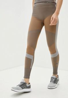 Леггинсы, adidas by Stella McCartney, цвет: бежевый. Артикул: AD093EWIVKI8. Одежда / Брюки / Леггинсы