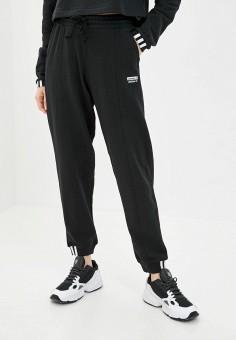 Брюки спортивные, adidas Originals, цвет: черный. Артикул: AD093EWJLZP7.