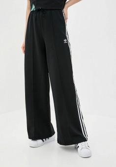 Брюки спортивные, adidas Originals, цвет: черный. Артикул: AD093EWJLZQ4. Одежда / Брюки