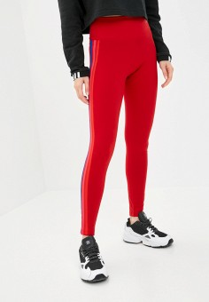 Леггинсы, adidas Originals, цвет: красный. Артикул: AD093EWJLZW1. Одежда / Брюки