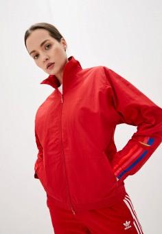 Ветровка, adidas Originals, цвет: красный. Артикул: AD093EWJLZY5.