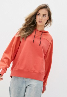 Худи, adidas Originals, цвет: красный. Артикул: AD093EWJMAJ7. Одежда / Толстовки и свитшоты