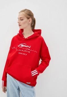 Худи, adidas Originals, цвет: красный. Артикул: AD093EWJMAK8. Одежда / Толстовки и свитшоты