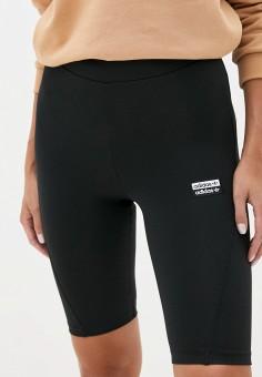 Шорты спортивные, adidas Originals, цвет: черный. Артикул: AD093EWJMAL2. Одежда / Шорты