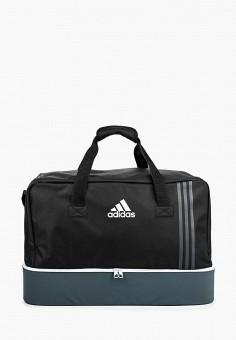 Сумка спортивная, adidas, цвет: черный. Артикул: AD094BUQML14. Аксессуары / Сумки