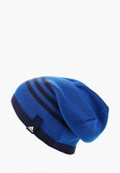 Шапка, adidas, цвет: синий. Артикул: AD094CUQML29. Аксессуары / Головные уборы / Шапки