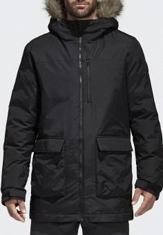 Парка, adidas, цвет: черный. Артикул: AD094EMUOD52. Одежда / Верхняя одежда / Парки