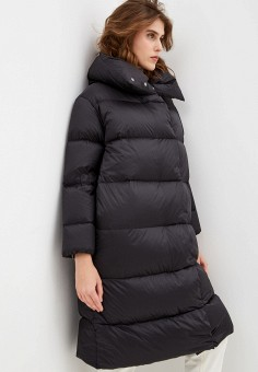 Пуховик, Add, цвет: черный. Артикул: AD504EWFSNF6. Одежда / Верхняя одежда / Пуховики и зимние куртки / Пуховики