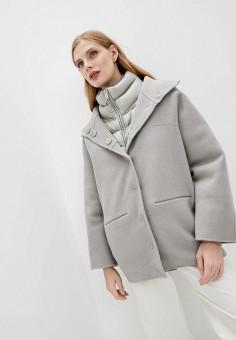 Полупальто, Add, цвет: серый. Артикул: AD504EWKHZA4. Одежда / Верхняя одежда / Пальто / Зимние пальто