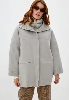 Пальто, Add, цвет: серый. Артикул: AD504EWKHZC5. Одежда / Верхняя одежда / Пальто / Зимние пальто