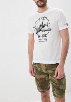 Футболка, Aeronautica Militare, цвет: белый. Артикул: AE003EMDSMJ9.