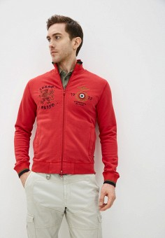 Олимпийка, Aeronautica Militare, цвет: красный. Артикул: AE003EMHOVK6.