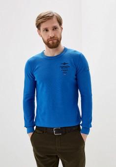Джемпер, Aeronautica Militare, цвет: синий. Артикул: AE003EMHOVL6. Одежда / Джемперы, свитеры и кардиганы / Джемперы и пуловеры