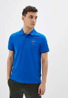 Поло, Aeronautica Militare, цвет: синий. Артикул: AE003EMHOVQ2.