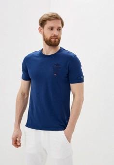Футболка, Aeronautica Militare, цвет: синий. Артикул: AE003EMHOVT9.