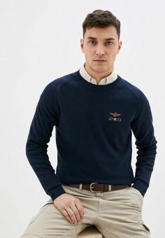 Джемпер, Aeronautica Militare, цвет: синий. Артикул: AE003EMITTE9. Одежда / Джемперы, свитеры и кардиганы / Джемперы и пуловеры