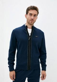 Кардиган, Aeronautica Militare, цвет: синий. Артикул: AE003EMJRNX5. Одежда / Джемперы, свитеры и кардиганы / Кардиганы