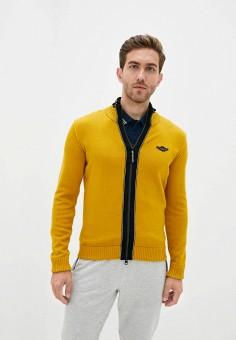Кардиган, Aeronautica Militare, цвет: желтый. Артикул: AE003EMJRNX6. Одежда / Джемперы, свитеры и кардиганы / Кардиганы