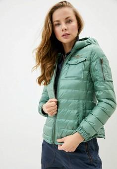 Куртка утепленная, Aeronautica Militare, цвет: зеленый. Артикул: AE003EWHORW6. Одежда / Верхняя одежда / Демисезонные куртки