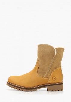 Полусапоги, Affex, цвет: желтый. Артикул: AF003AWFQRX8. Обувь / Сапоги / Полусапоги